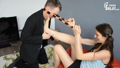 Teacher worships student's feet